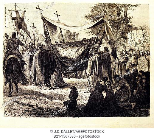 France-History- 'Funérailles de Saint Louis': Louis IX 25 April 1214 – 25 August 1270, commonly Saint Louis, was King of France from 1226 until his death  He...