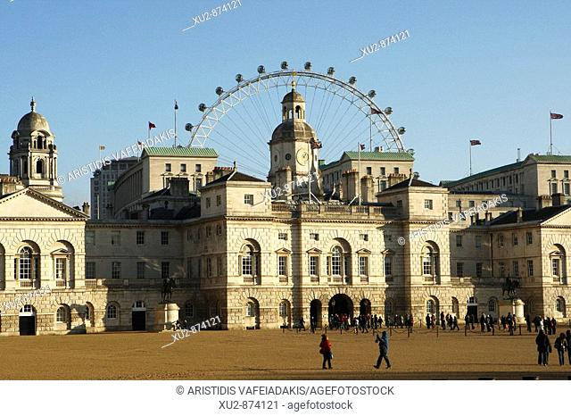Horse Guards  and London Eye in the background