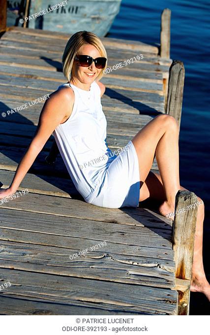 Woman summer seaside