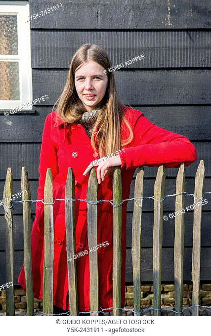 Tilburg, Netherlands. Portrait of a female volunteer to a daycare centre for mentally challenged people