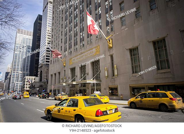 The famous Waldorf-Astoria Hotel on Park Avenue in New York.. Hilton Worldwide Holdings Inc, the owner of the property and the world's largest public owned...