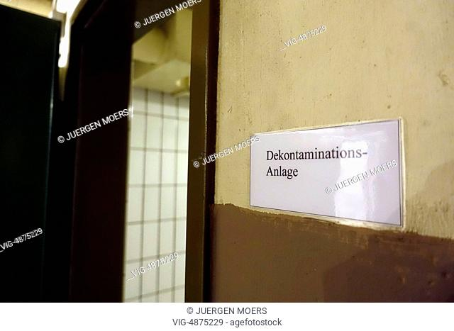 29.08.2014, Germany, Bad Neuenahr, Ahrweiler, Marienthal, Documentation site government fallout shelter . - Ahrweiler, Germany, 29/08/2014