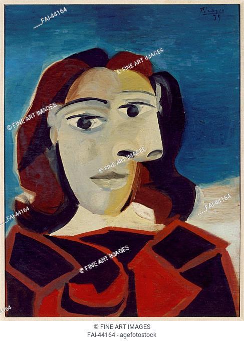 Portrait of Dora Maar by Picasso, Pablo (1881-1973)/Oil on canvas/Modern/1939/Spain/Museo Nacional Centro de Arte Reina Sofía