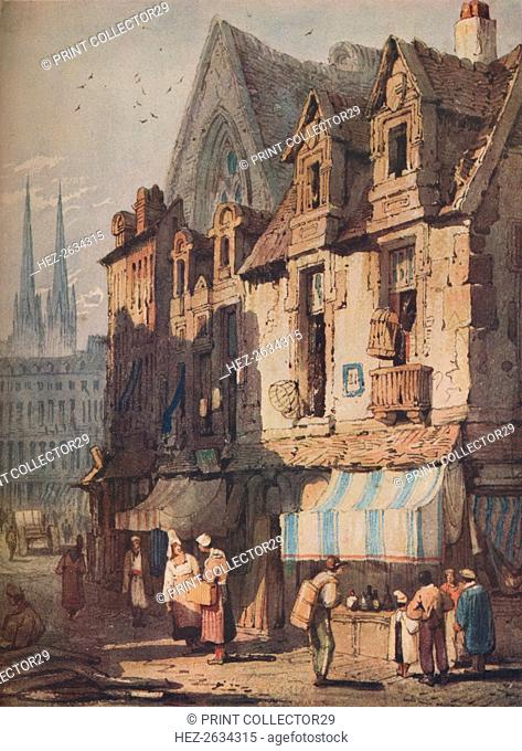 'Street Scene, Bayeux, Normandy', c1828. Artist: Samuel Prout
