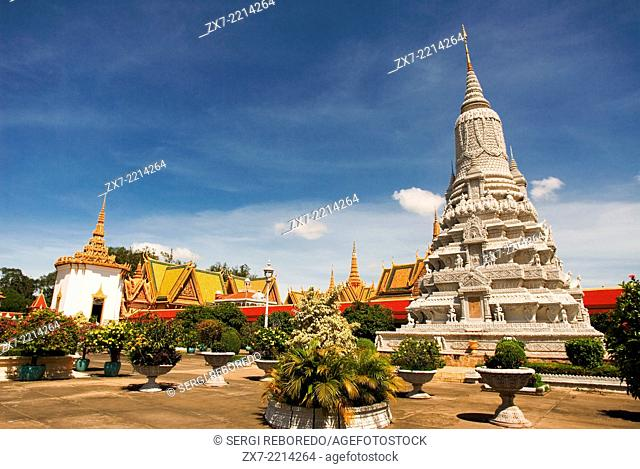 Stupa in the Royal Palace. Phnom Penh. The Royal Palace in Phnom Penh was constructed over a century ago to serve as the residence of the King of Cambodia