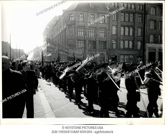 Apr. 13, 1953 - That's their Civilizationl - The Festival held at the Occasion of the Completion of the former state oepra Unter den Linden in Eastern Berlin...