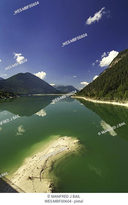 Germany, Bavaria, Isar, Sylvenstein reservoir
