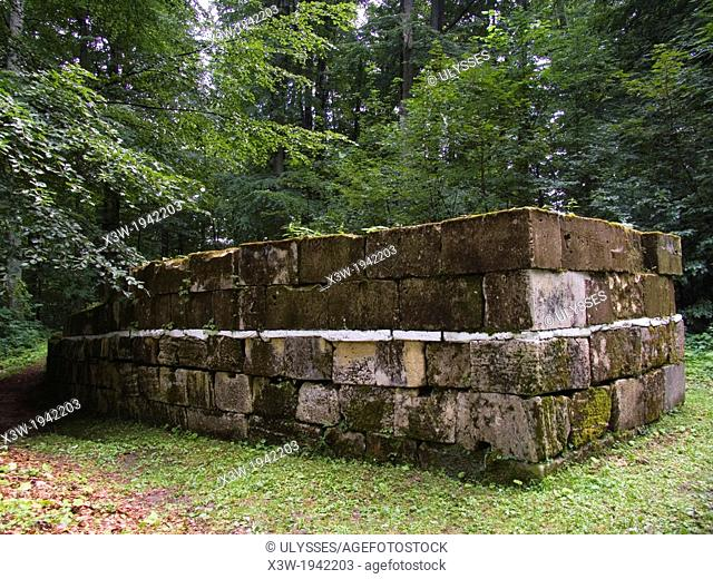 europe, romania, transylvania, cioclovina mountain national park, ruins of ulpia traiana sarmizegetusa, deva area