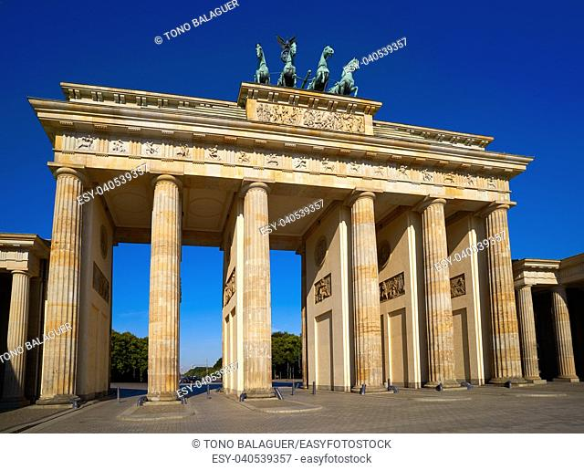 Berlin Brandenburg Gate Brandenburger Tor in Germany