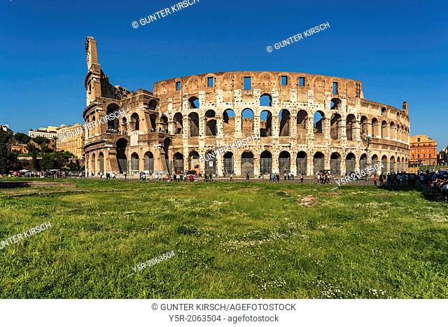 The Colosseum is the largest amphitheater built in ancient Rome. It was built from 72 to 80 AD. It is today the symbol of the city of Rome, Lazio, Italy, Europe