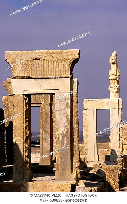 Remains of the archaelogical site of Persepolis, Iran