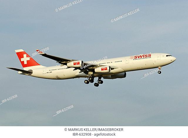 Airbus A340-313 from the Swiss International Air Lines AG