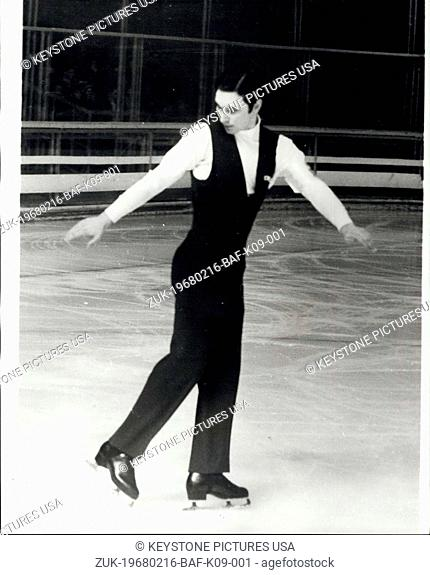 Feb. 16, 1968 - Winter Olympic Games Keystone Photo Shows: Patrick Petra of France pictured during the men's figure skating event on Wednesday (Feb 14) at...