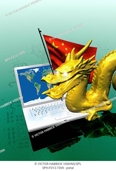 Chinese cyber hacking, Illustration