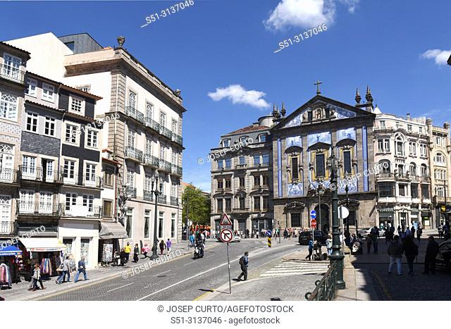 San Antonio dos congregados church, Almeida Garrett square, Porto, Portugal