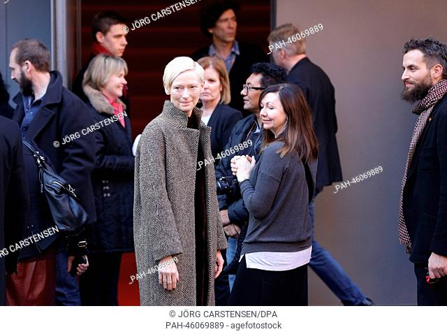 """ActressTilda Swinton arrives to the showing of the movie """"""""The Grand Budapest Hotel"""""""" at the 64th Berlin Film Festival in Berlin,Germany, 06February 2014"""