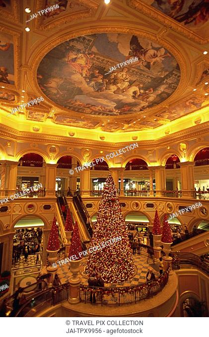 China, Macau, Interior of The Venetian Macao Hotel and Casino