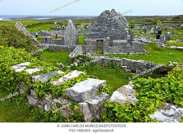 Seven Churches  Inishmore Island, Aran Islands, Galway County, West Ireland, Europe