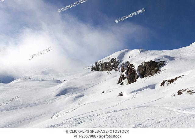 Spitzhorli, Simplon Pass, Canton of Valais, Switzerland. Going up to the spitzhorli
