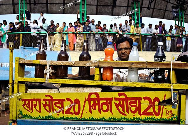 Street vendor selling local soft drinks at Raipur ( Chhattisgah state, India) at the time of Republic Day