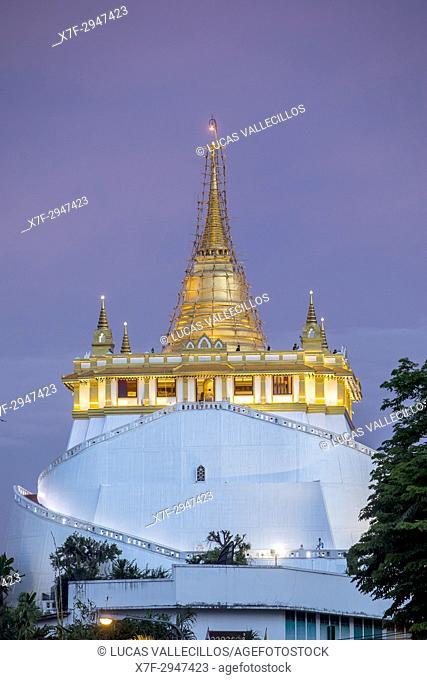 Wat Saket Temple, in Golden Mount, Bangkok, Thailand