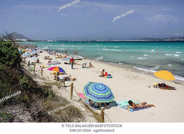 playa de Muro, municipio de Muro, Bahia de Alcudia,islas baleares, Spain