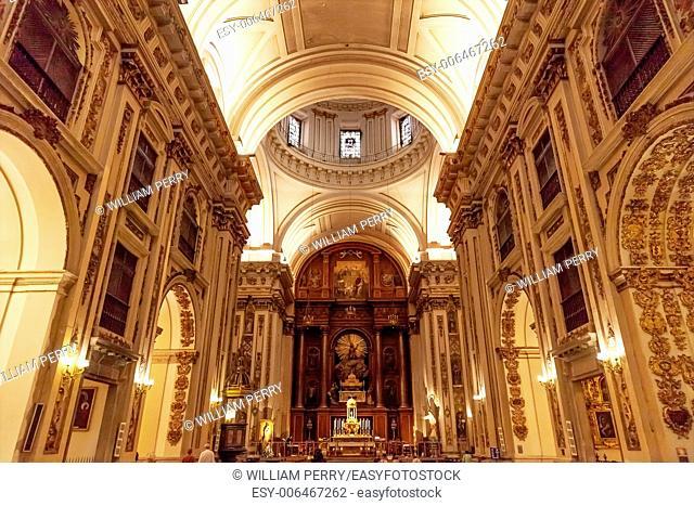 Basilica Dome Santa Iglesia Collegiata de San Isidro Madrid Spain. Named after Patron Saint of Madrid, Saint Isidore, Church was created in 1651