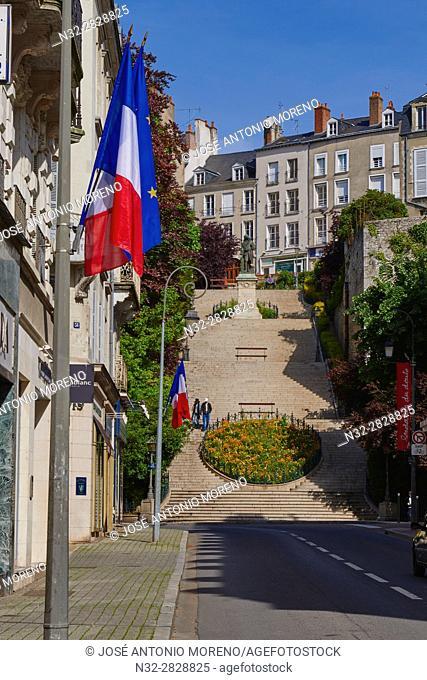 Blois, Old Town, Loire et Cher, Pays de la Loire, Loire Valley , UNESCO World Heritage Site, France