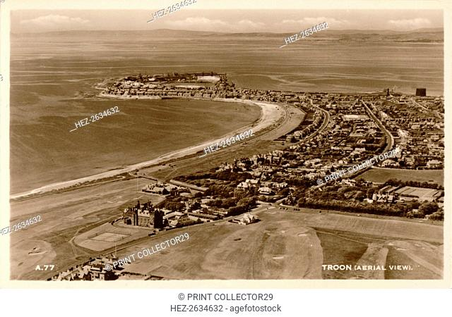 'Troon (Aerial View)', c1930. Artist: Unknown