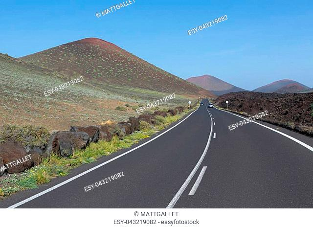 landscape of the Lanzarote Island Spain