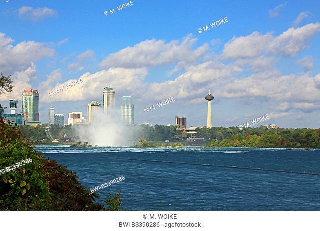 Niagara falls, sea spray at headwater, Canada, Ontario, Niagara