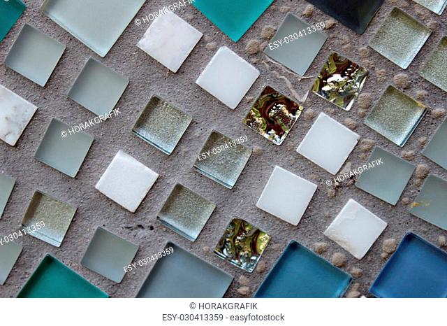 Abstract detail glass ceramic mosaics art background