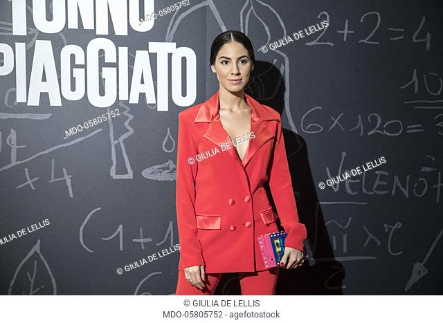 The italian influencer Giulia De Lellis at the photocall of the film Tonno Spiaggiato, directed by Matteo Martinez with Frank Matano at the Cinema Anteo