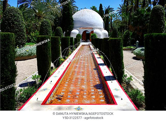 Palmeral - Moorish date palm orchards - designated by UNESCO as a World Heritage Site, Elche, Elx, Alicante province, Valencian Community, Costa Blanca, Spain