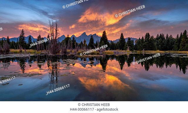 North America, USA, America, Rocky Mountains, Grand Teton National Park, Snake river