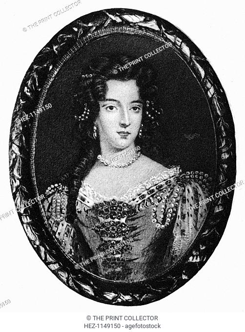 Mary of Modena, queen consort of King James II, (1907). Mary of Modena (1658-1718) was the second wife of King James II of England