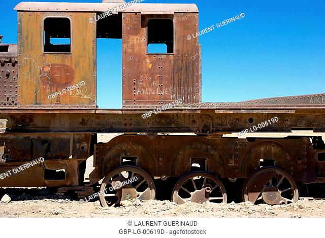 Cemetery of Trains, Uyuni, Department of Potosi, Sud Lipez Province, La Paz, Bolívia