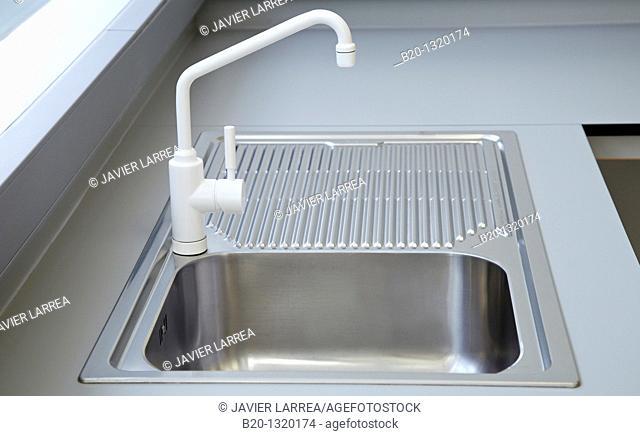 Sink in chemistry laboratory, biomedicine, San Sebastian, Donostia, Gipuzkoa, Euskadi, Spain