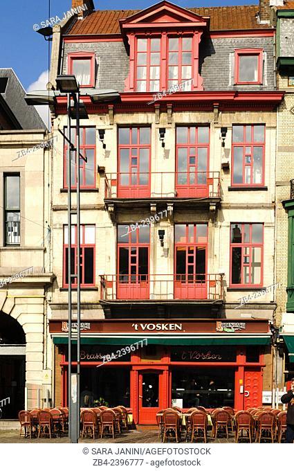 Brasserie 't Vosken, Sint-Baafsplein Square, Ghent, Belgium, Europe