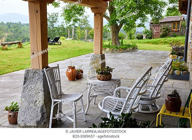 Porch, Rural apartment, Deba, Gipuzkoa, Basque Country, Spain, Europe