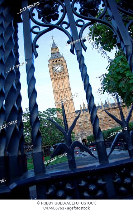 England, London, Westminster, The Big Ben and Houses of Parliament