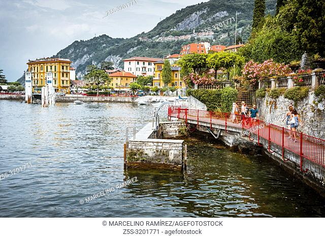 Passerella 'The walk of love'. The Patriach Greenway Path. A route to know Varenna. Varenna, Province of Lecco, Lombardy, Italy, Europe