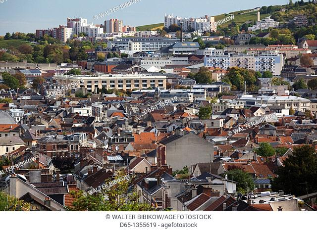 France, Marne, Champagne Region, Epernay, town overview