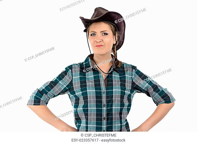 Photo of smiling cowgirl