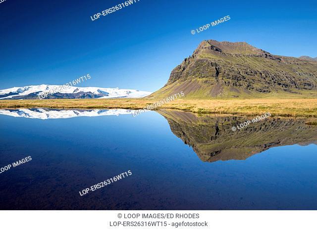 The Vatnajokull Glacier reflected