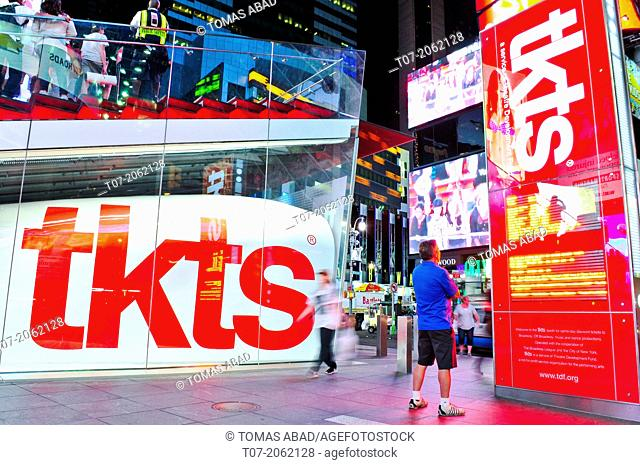 TKTS Broadway Tickets, Time Square, 42nd Street, Duffy Squre, Midtown Manhattan, New York City, USA