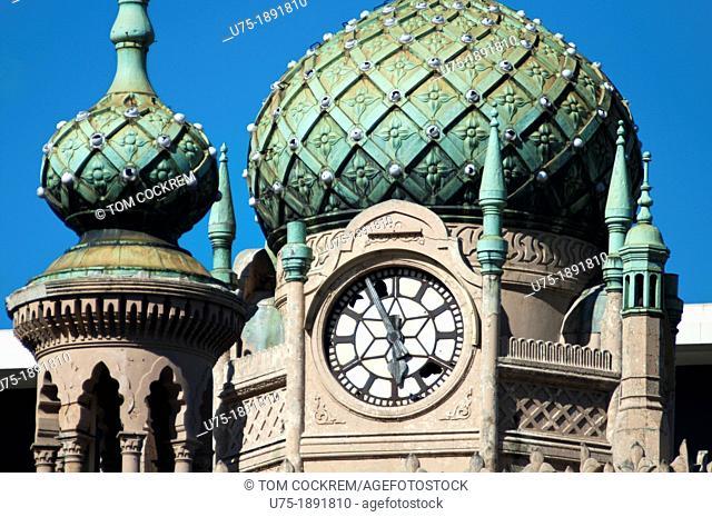 Forum Cinema building dome, Flinders Street, Melbourne, Victoria, Australia