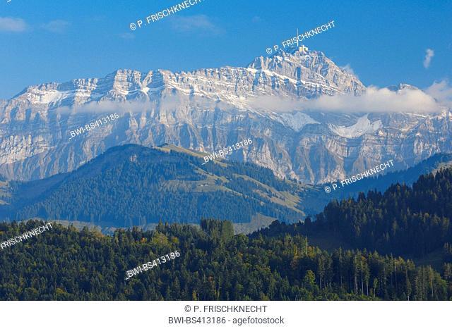 Alpsteinmassif with Saentis, Appenzell, Switzerland