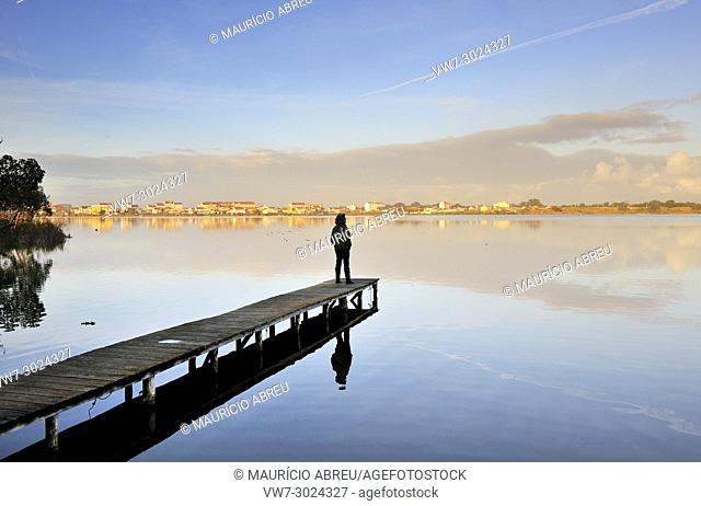 The lagoon of Mira, place of tranquility and meditation. Portugal