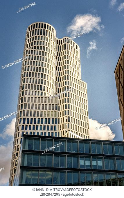"""Berlin,Germany,The 'Upper West"""""""" skyscarper on Kurfustendamm-The complexâ. . s tower measures 118 metres and will be one of Berlinâ"""